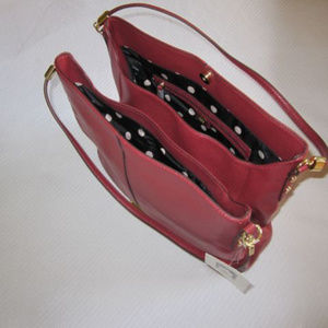 Anne Klein Kick Start Hobo Purse - Ruby Color